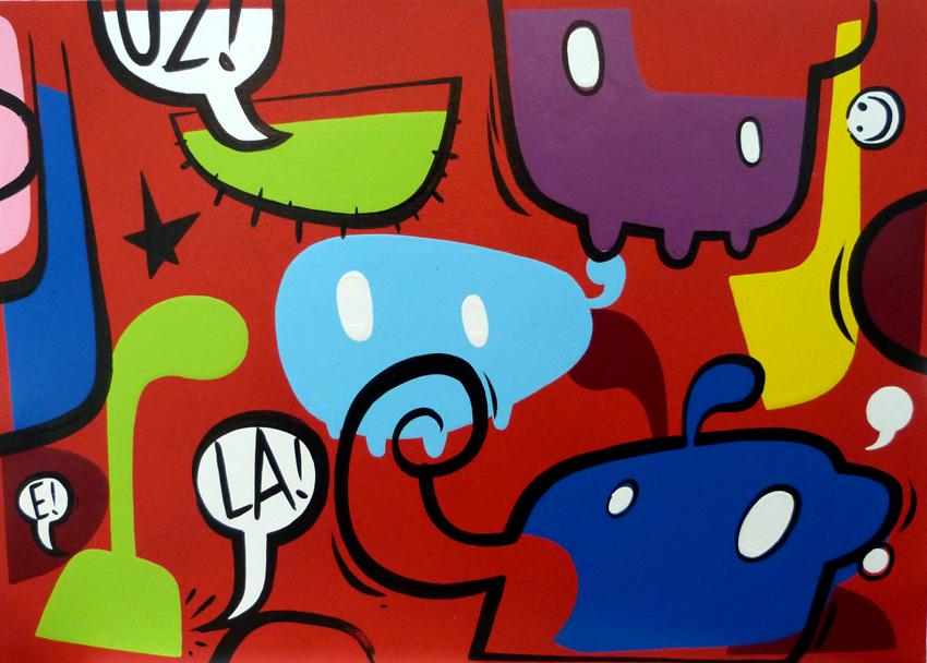 HARIBO, smalto su tela, cm70x50, 2013