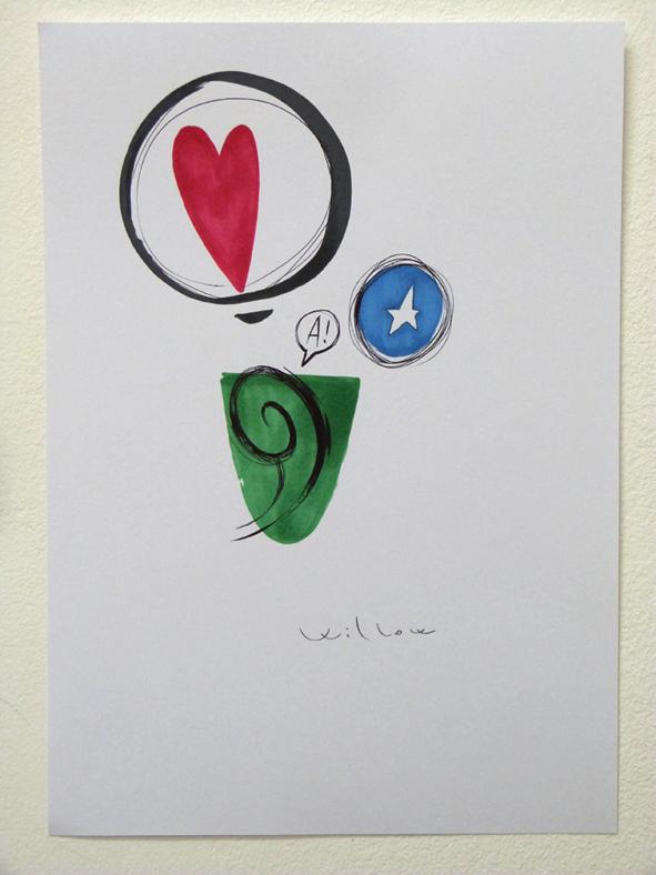 STUDIO1, pennarello su carte, 2014