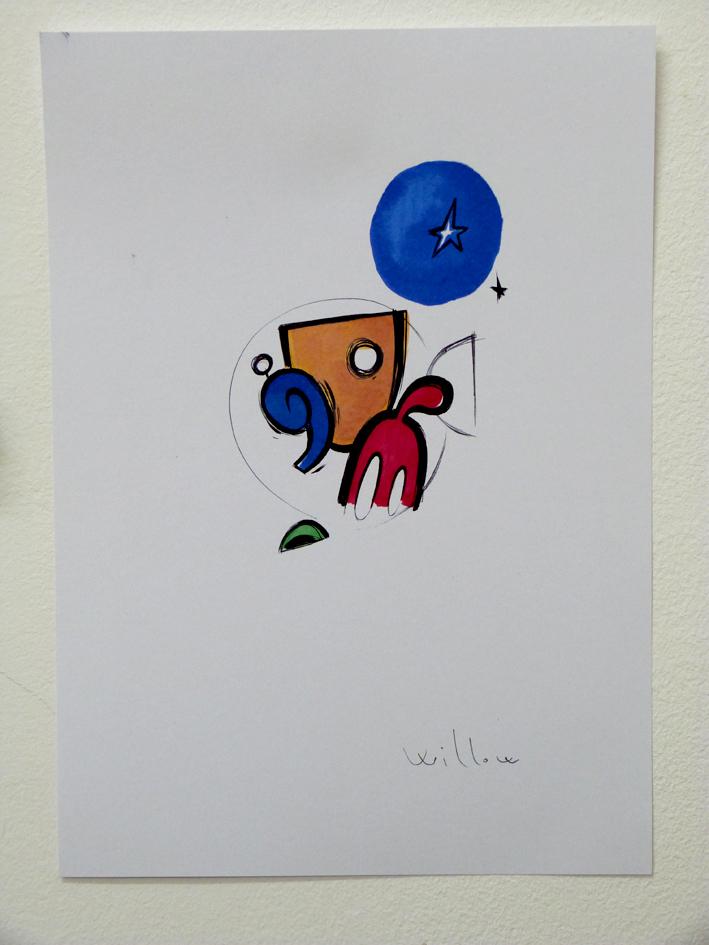 STUDIO2, pennarello su tela, 2014