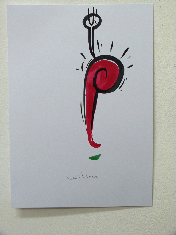 STUDIO3, pennarello su tela, 2014