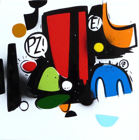 Parte di un insieme 2. cm30x30, Smalto su tela 2014